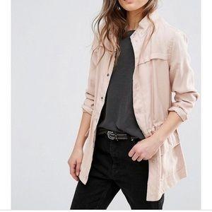 Zara tan utility jacket sz xs